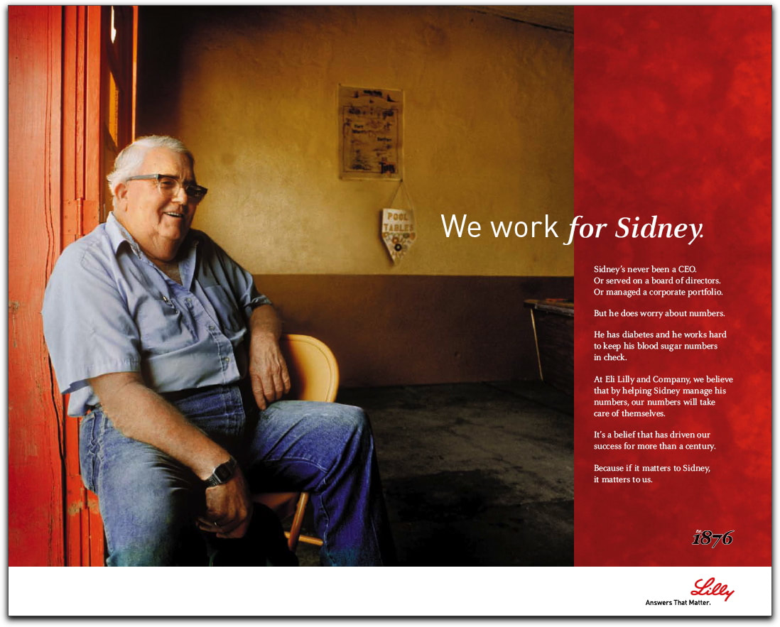 Lilly Corporate brand ad we work for patients John